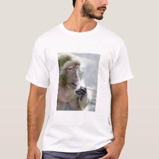 Macaco de fumo camiseta