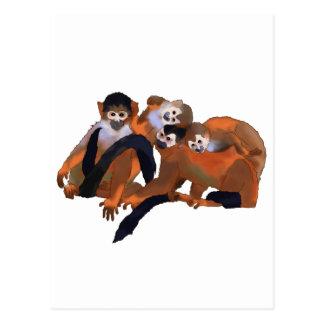 Macaco de Titi de Costa Rica Cartoes Postais