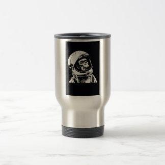 Macaco do astronauta caneca térmica
