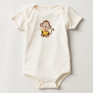 Macaco do bebê body para bebê