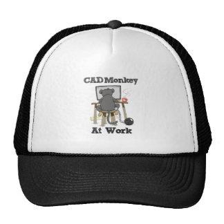Macaco do CAD no trabalho Boné