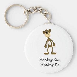 Macaco do grupo dos desenhos animados chaveiro