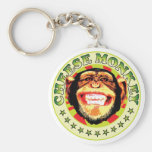 Macaco do queijo chaveiros