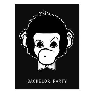 macaco do senhor do despedida de solteiro cartão postal