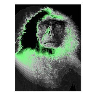 Macaco elétrico cartão postal