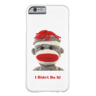Macaco engraçado & bonito da peúga eu telefono ao capa barely there para iPhone 6