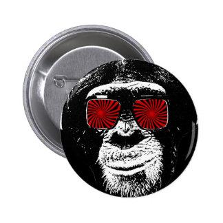 Macaco engraçado bóton redondo 5.08cm