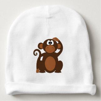 Macaco engraçado gorro para bebê