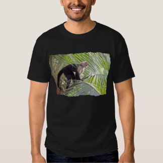 Macaco na foto de bambu da selva t-shirt