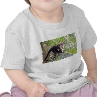 Macaco na foto de bambu da selva tshirt