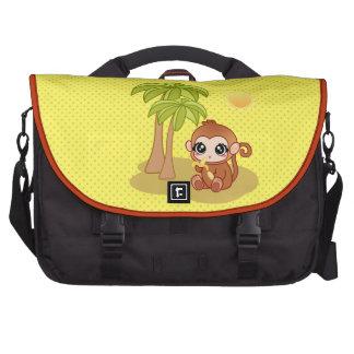 Macaco na ilha maletas para notebooks