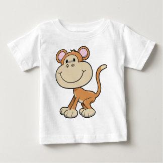Macaco pequeno bonito camiseta para bebê