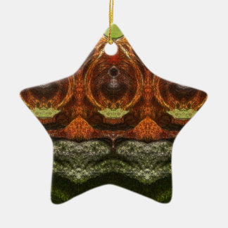 Macaco psicadélico ornamento de cerâmica