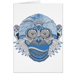 Macaco - universal cartão comemorativo