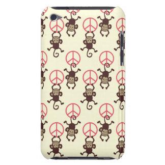 Macacos do sinal de paz capa para iPod touch