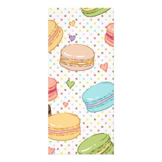 Macarons, biscoitos, pastelarias francesas, 10.16 x 22.86cm panfleto