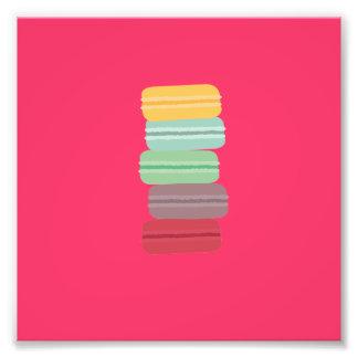 macarons coloridos impressão de foto