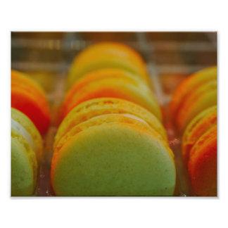 Macarons doce impressão de foto