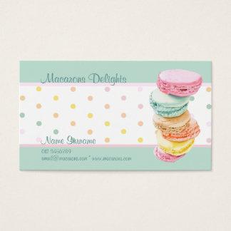 Macarons pontilha o cartão de visita