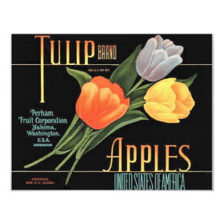 Maçãs da tulipa convite 10.79 x 13.97cm