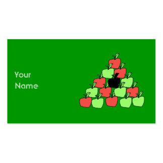 Maçãs vermelhas e verdes. Bolas de piscina, Cartão De Visita