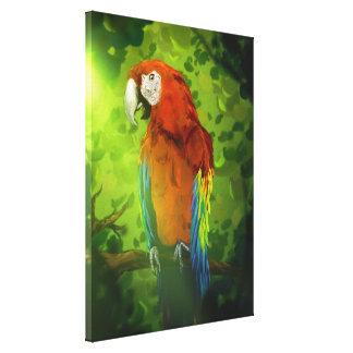 Macaw - canvas de arte 18x24 dos animais selvagens impressão de canvas envolvida