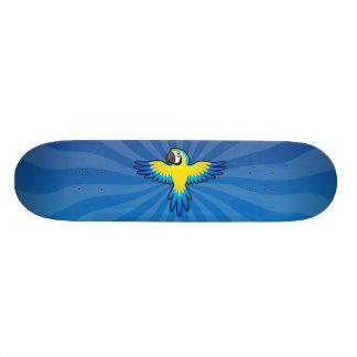Macaw/papagaio dos desenhos animados shape de skate 18,1cm