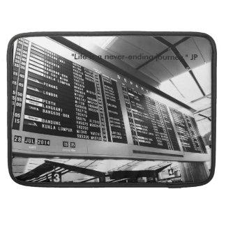 "Macbook 15"" luva com a foto preta & branca bolsa para MacBook pro"