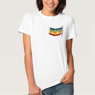 machado Brasil das artes marciais do capoeira do T-shirt