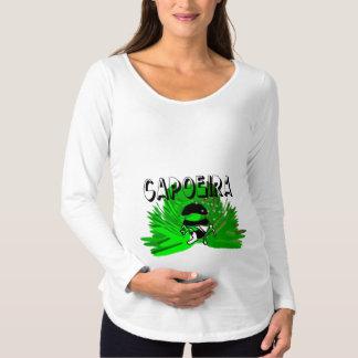 machado Brasil do maternidad do bebê do capoeira Camiseta Para Gestantes
