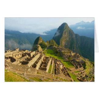 Machu cartão vazio de Picchu, Peru