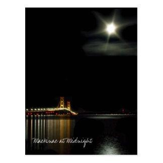 Mackinac no cartão da meia-noite