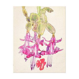 Mackintosh - flor do cacto impressão de canvas envolvidas