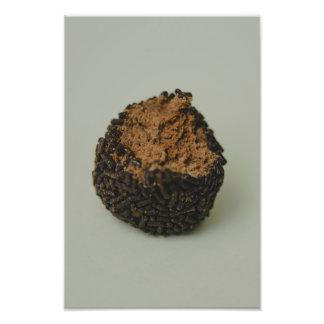 Macro da bola do chocolate artes de fotos