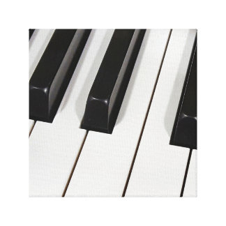 macro do teclado de piano impressão em tela