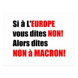 MACRON = mundialização - cartão