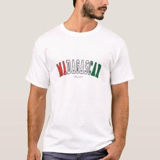 Madagascar em cores da bandeira nacional camiseta