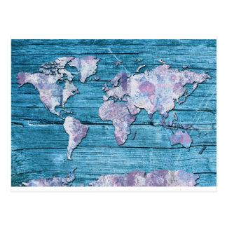 madeira 15 do mapa do mundo cartão postal