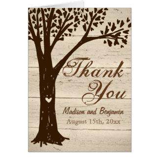 Madeira antiga cartões de agradecimentos