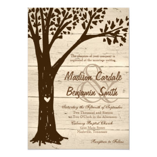 Madeira antiga convites de casamento cinzelados da
