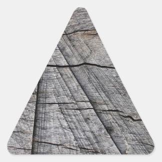 Madeira áspera adesivo triangular