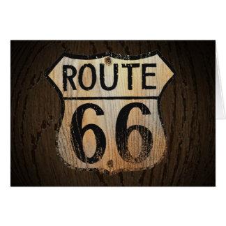 Madeira BG do cartão da rota 66