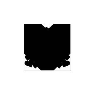 Madeira bonito do artesanato da arte dos corações carimbo de borracha