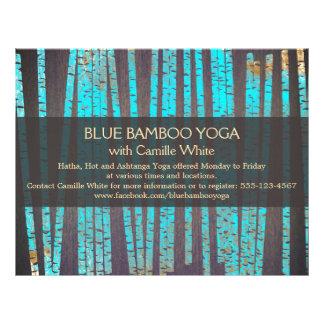 Madeira de bambu dos termas da saúde da natureza d panfletos coloridos