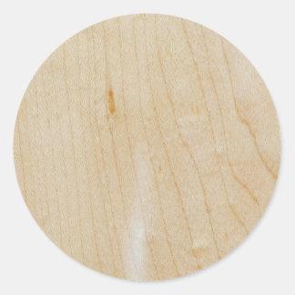 Madeira do bordo adesivo redondo