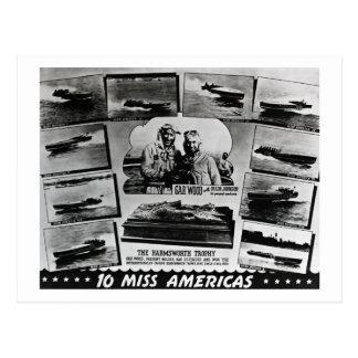 Madeira do peixe-agulha e dez barcos da raça da se cartao postal