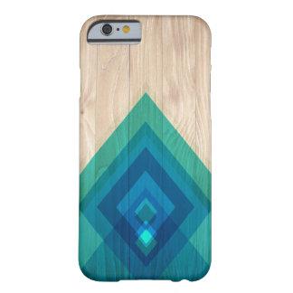 Madeira e capa de telefone dos diamantes (azuis)