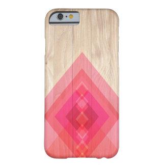 Madeira e capa de telefone dos diamantes (rosa)
