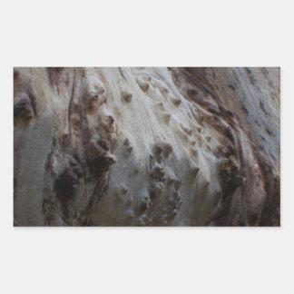 Madeira excêntrica 1 adesivo retângular