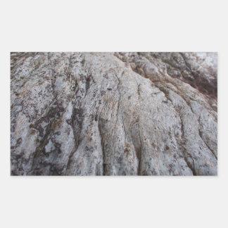 Madeira excêntrica 2 adesivo retangular